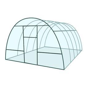 Каркас теплицы «Базовая», 4 × 3 × 2,1 м, металл, профиль 20 × 20 мм, шаг дуг 65 см, 1 мм, без поликарбоната Ош