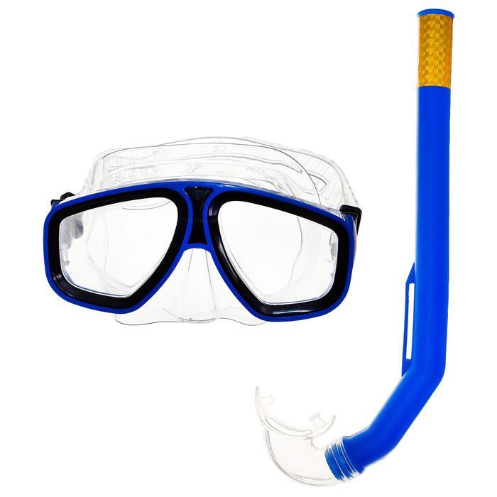 Набор для подводного плавания, 2 предмета: маска, трубка, в пакете, цвета МИКС