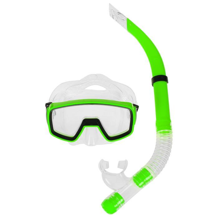 Набор для плавания, 2 предмета: маска и трубка, в пакете, МИКС