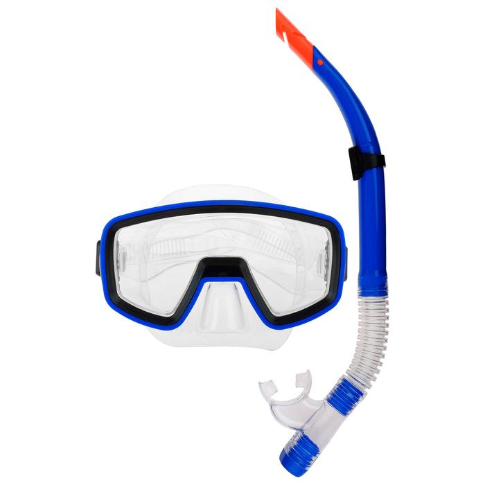 Набор для плавания, 2 предмета: маска и трубка PVC, цвета МИКС