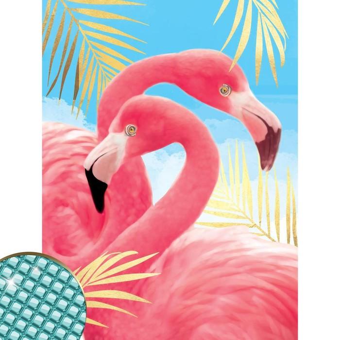 Алмазная вышивка с полным заполнением на раме «Фламинго», 30 х 40 см. Набор для творчества