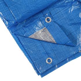 Тент защитный, 6 × 4 м, плотность 60 г/м², люверсы шаг 1 м, голубой Ош