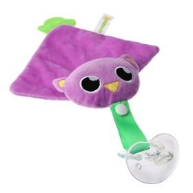 Пустышка/комфортер «Совушка», силиконовая, с мягкой игрушкой