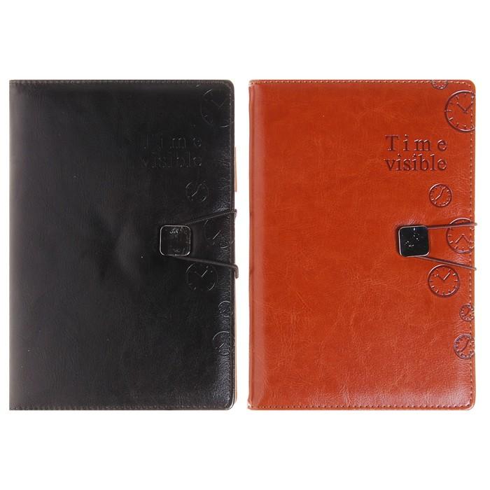 Органайзер, формат А5, на резинке, 100 листов, линия, обложка ПВХ, МИКС - фото 282122638