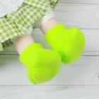 Носки для куклы, длина стопы 7 см, цвет зелёный