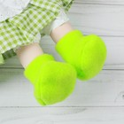 Socks for dolls, foot length 7 cm, color green