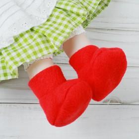Носки для куклы, длина стопы: 7 см, цвет красный