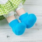 Socks for dolls, foot length 6 cm, color blue