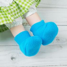Носки для куклы, длина стопы: 6 см, цвет голубой