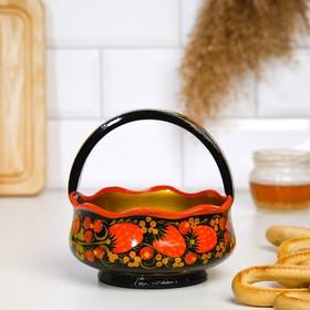 """Basket """"Berry"""", 12 cm, Khokhloma"""
