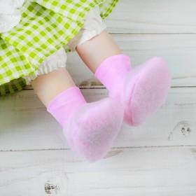 Носки для куклы, длина стопы 6 см, цвет розовый