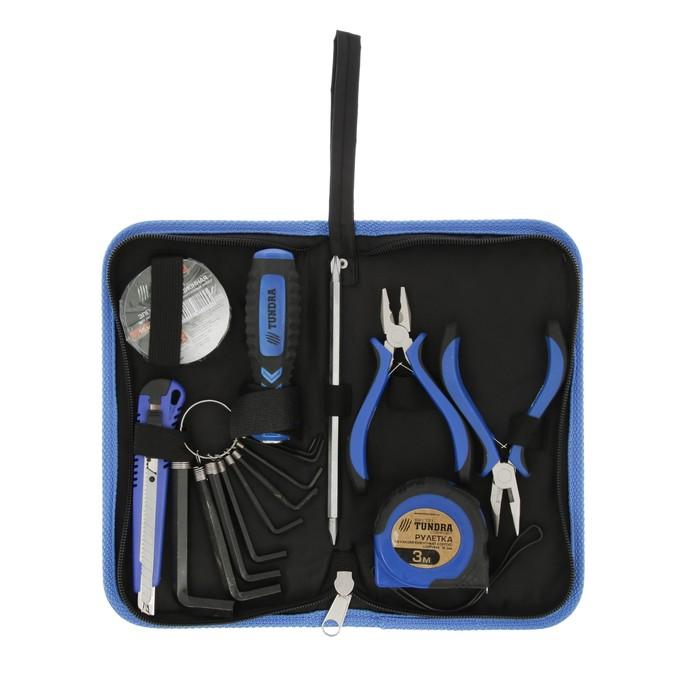 Набор инструментов в кейс-папке TUNDRA comfort, универсальный, 7 предметов