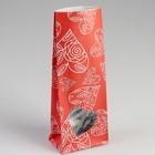 """Пакет бумажный фасовочный """"Сердца"""", матовый, красный, 10 х 6 х 26 см - фото 154874530"""