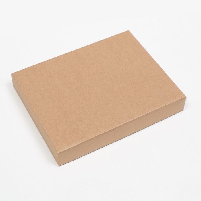 Коробка сборная без печати крышка-дно бурая без окна 26 х 21,5 х 4 см