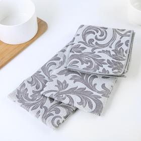 "Набор салфеток для уборки ""Флёр"": 30×30/40×48/40×60 см, цвет серый"