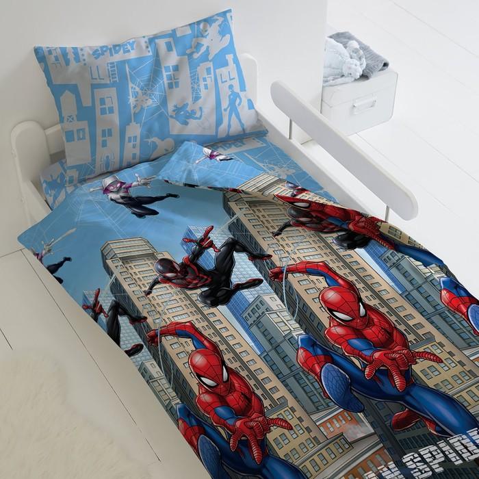 Постельное бельё 1,5 сп Человек Паук «Городские герои»