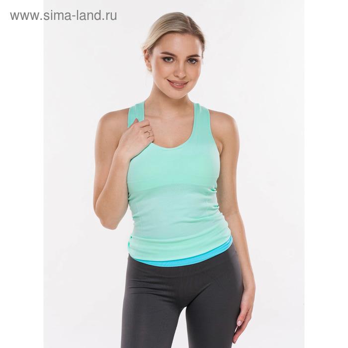 Майка женская спортивная, цвет мятный, р-р 44-46 (M)