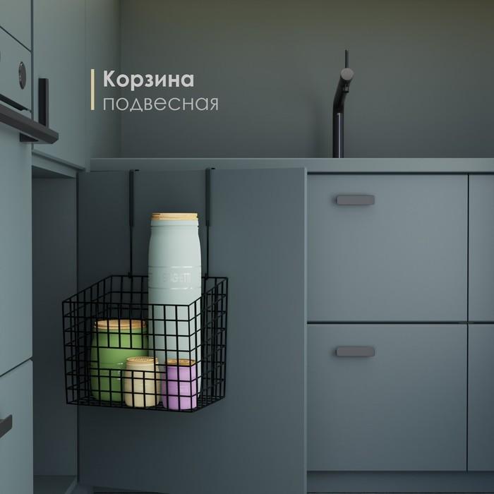 Basket hanging 23х15,5h30,5 cm, color black