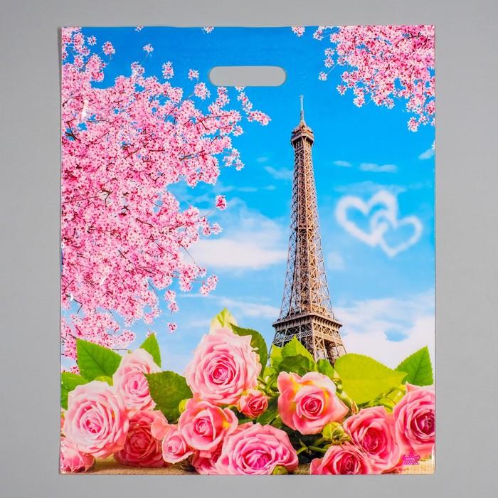 """Пакет """"Романтик NEW"""", полиэтиленовый с вырубной ручкой, 38 х 45 см, 60 мкм - фото 308292119"""
