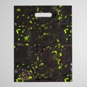 """Пакет """"Граффити NEW"""", полиэтиленовый с вырубной ручкой, 31 х 40 см, 60 мкм"""