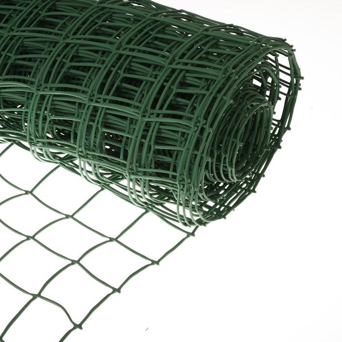 Сетка садовая, 1 × 20 м, ячейка 8.3 × 8.3 см, зелёная