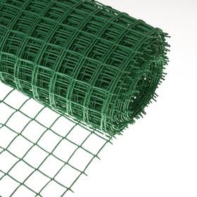 Сетка садовая, 1 × 20 м, ячейка 5 × 5 см, зелёная Ош