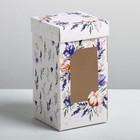 Коробка под капкейк «Чудесного настроения», 9 × 17 × 9 см