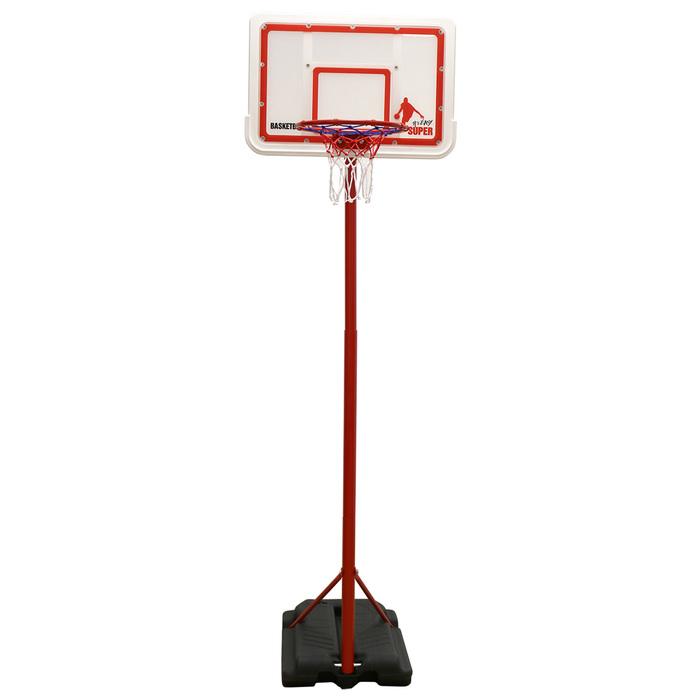 Мобильная баскетбольная стойка DFC KIDSB п/п белый щит