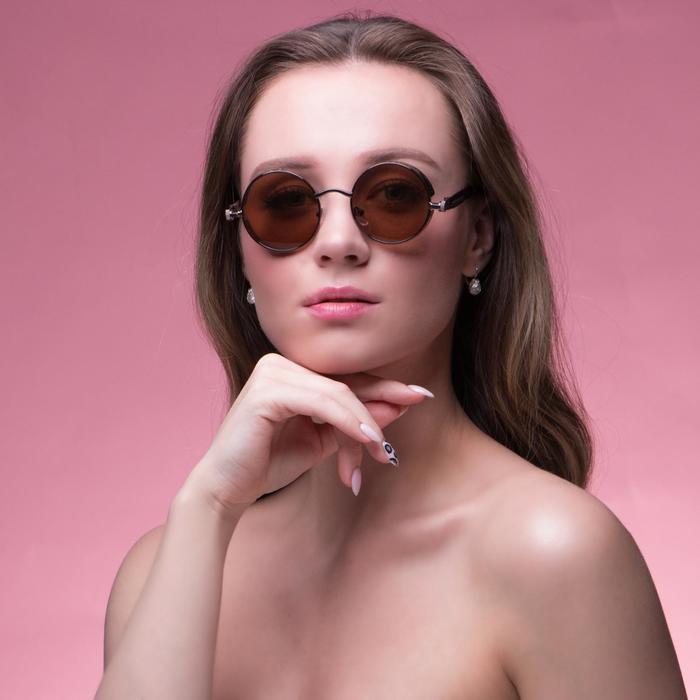 Очки солнцезащитные Футуристические. Оправа и дужки золото, линзы микс, 3 × 5.5 × 14.5 см