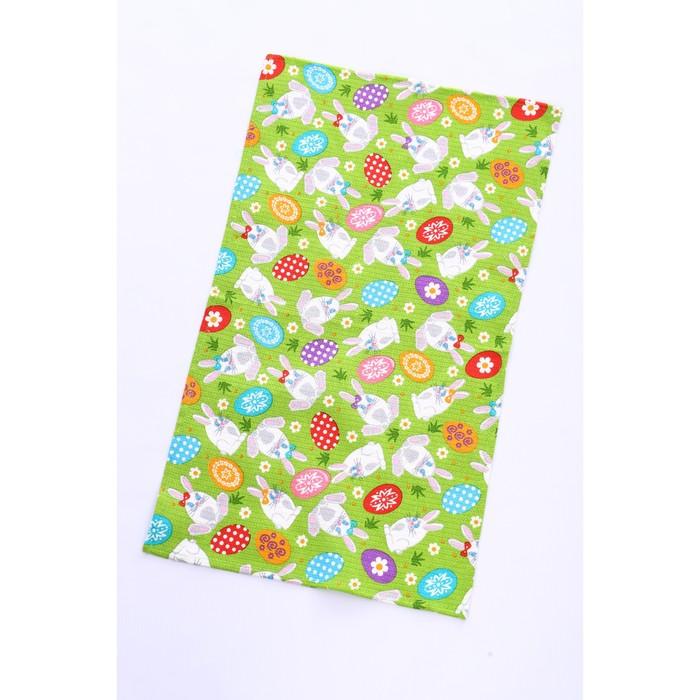 Полотенце вафельное «Пасхальный кролик», 40х75 см, зеленый