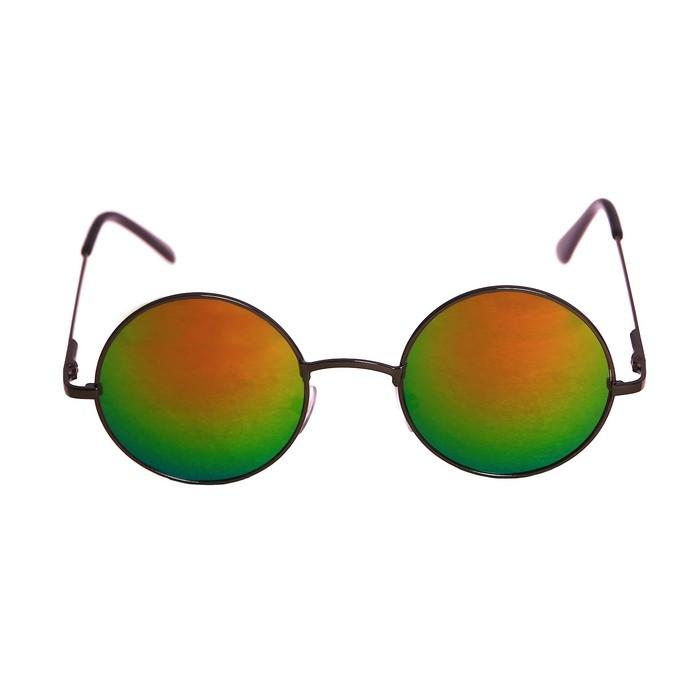 """Очки солнцезащитные """" Аругам"""", uv 400, тонкая оправа, линзы круглые, микс 13х5х2.5 см"""