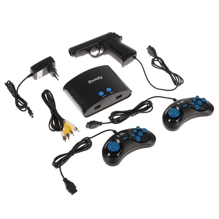 Игровая приставка Dendy, 8-bit, 255 игр, геймпад - 2 шт, световой пистолет