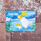 "Magnet with UV varnish ""KHMAO"" (bears on the rink), 8 x 5.5 cm"