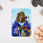 "Magnet with UV varnish to ""Vladivostok"" (the walrus-sailor), 5.5 x 8 cm"