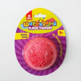 Шариковый пластилин крупнозернистый 5 г, цвет красный