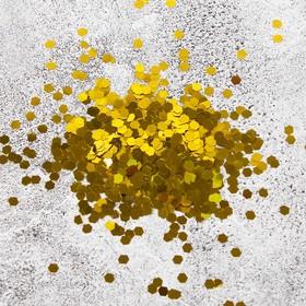 """Наполнитель для шара """"Конфетти шестиугольник"""", 4 мм, цвет золотой, 100 г"""