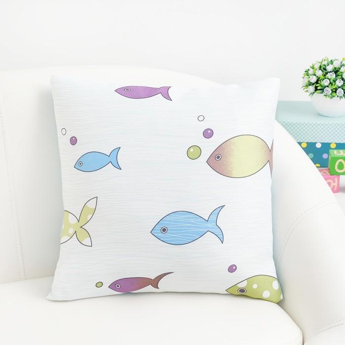 Подушка декоративная Крошка Я «Океан» цвет голубой, 40×40 см, 100% п/э