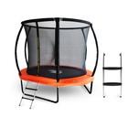 Батут StartLine Fitness 8 футов (Global) с внутренней сеткой, и пластик.лестницей