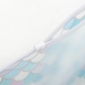 Косметичка для купальника, отдел на молнии, цвет белый / голубой - фото 1769918