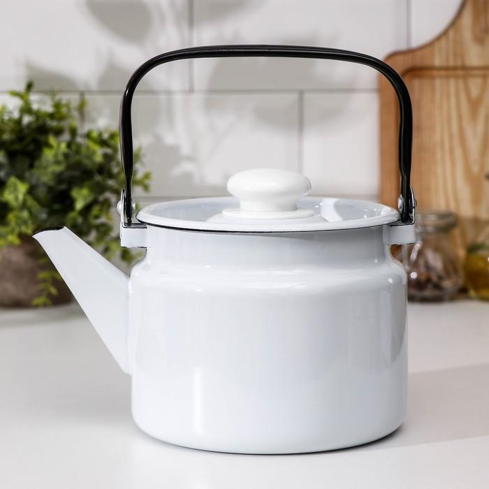 Чайник Лысьвенские эмали, 2 л, без деколи - фото 798191272
