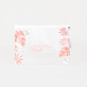 Косметичка для купальника, отдел на молнии, цвет белый / розовый - фото 1769926
