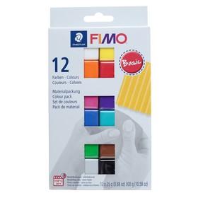 Набор пластики - полимерной глины FIMO soft, 12 цветов по 25 г