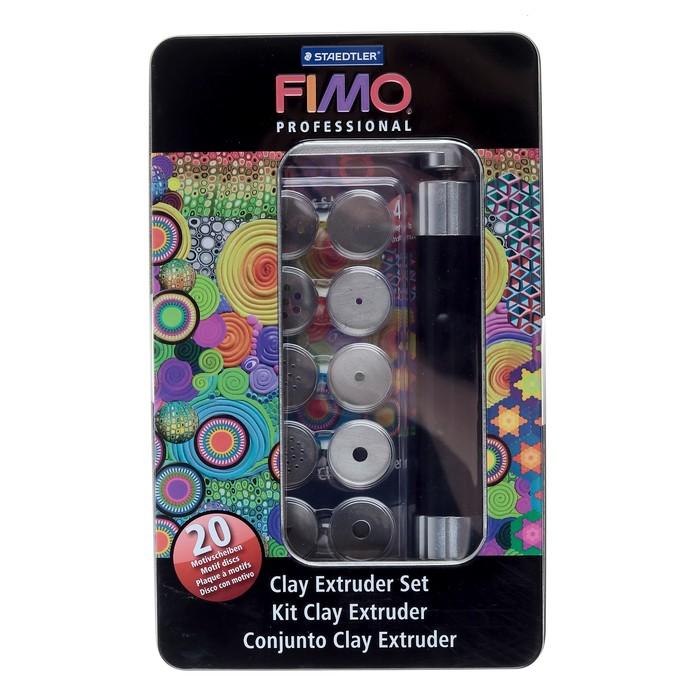 Экструдер металлический для моделирования FIMO professional, 20 дисков