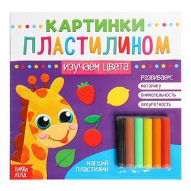 Аппликации пластилином «Изучаем цвета», 12 стр.