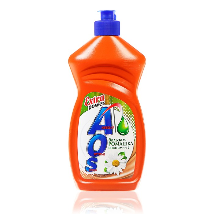 Средство для мытья посуды AOS Бальзам ромашка и витамин Е, 450 мл.