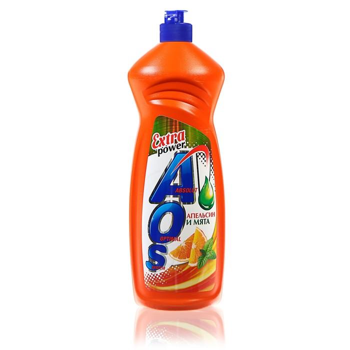 Средство для мытья посуды AOS Апельсин и мята, 900 гр.