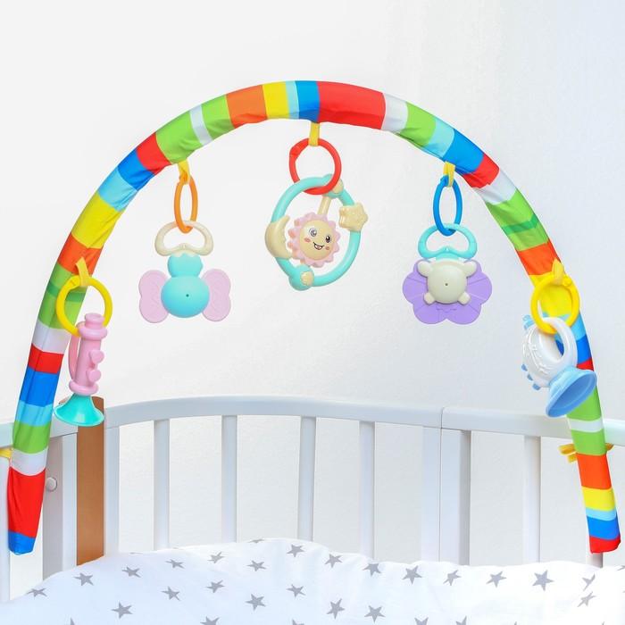 Дуга игровая мягкая на коляску/кроватку «Дудочка»