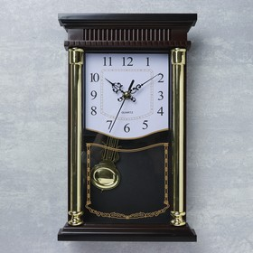 Wall clock, series: Pendulum, Trinity, 34x20x3 cm, 1aa