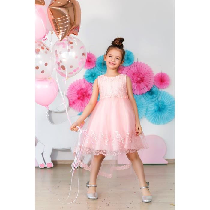Платье нарядное для девочки MINAKU «Анабелль», рост 122 см, цвет розовый