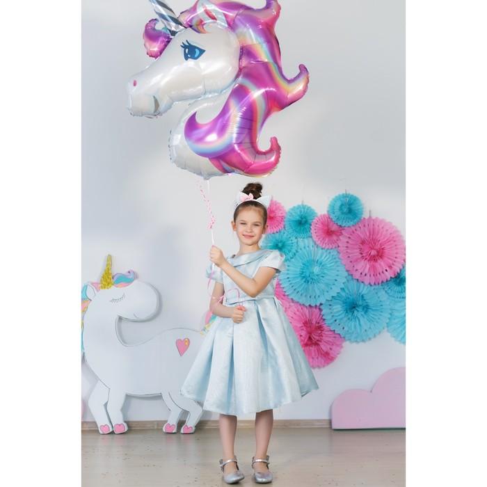Платье нарядное для девочки MINAKU «Жаклин», рост 116 см, цвет голубой - фото 76679763